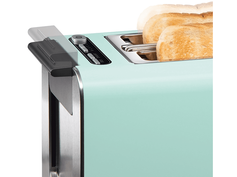 Bosch Toaster TAT 3A012 mint turquoise//black grey
