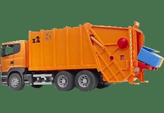 BRUDER Scania R-Serie Müll-LKW (orange) LKW m. Funktion Mehrfarbig