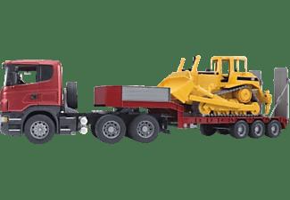 BRUDER Scania R-Serie LKW mit Tieflader LKW m. Funktion Mehrfarbig