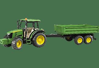 BRUDER John Deere 5115M + Bordwandanhänger Traktor Mehrfarbig