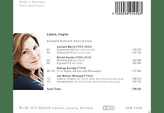 Elisabeth Kufferath - Libero,fragile-Stücke für Violine & Viola  - (CD)