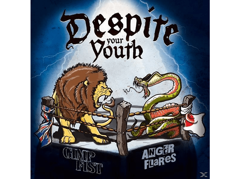 Gimp Fist/Anger Flares - Despite Your Youth (Split-EP/Col.Vinyl/Download) [Vinyl]