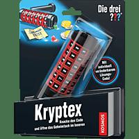 KOSMOS 631383 Die drei ??? Kryptex Experimentierkasten, Schwarz/Rot