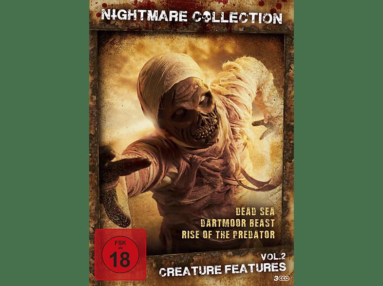 Nightmare Collection Vol. 2 - Creature Features (Dead Sea, Dartmoor Beast, Rise of the predator) [DVD]