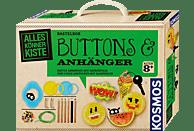 KOSMOS Buttons & Anhänger Experimentierkasten, Mehrfarbig