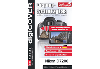S+M G4025, Dispaly-Schutzglas, Transparent, passend für Nikon D7200