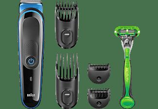 Barbero - cortapelos - afeitadora - Braun MGK3040, Set de afeitado 7 en 1, 13 longitudes