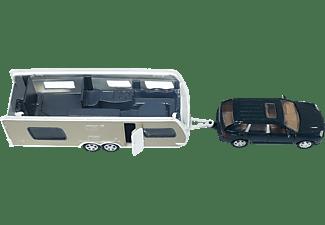 SIKU PKW mit Wohnwagen PKW Miniaturen Mehrfarbig