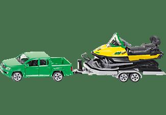 SIKU PKW mit Anhänger und Snowmobil PKW Miniaturen Mehrfarbig