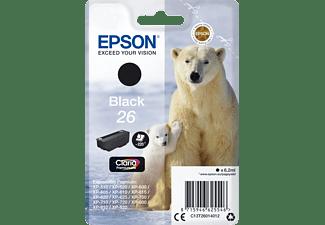 EPSON Original Tintenpatrone Schwarz (C13T26014012)