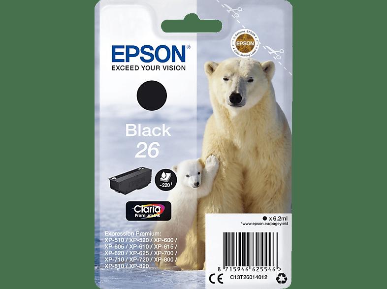 EPSON Original Tintenpatrone Eisbär Schwarz (C13T26014012)