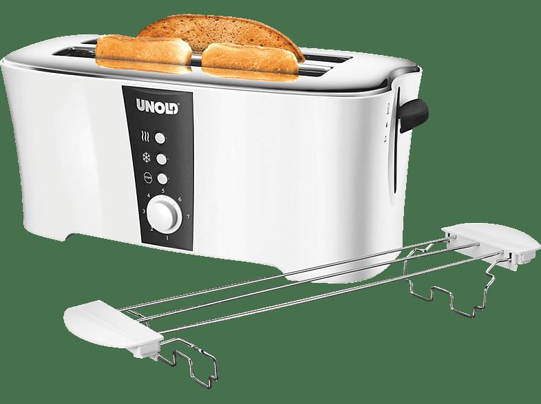 UNOLD 38020 Design Dual Toaster Weiß/Schwarz (1350 Watt, Schlitze: 2)