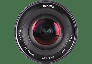 VOKING VK12MM-2.8 N 12 mm - 12 mm (Objektiv für Nikon N-Mount, Schwarz)