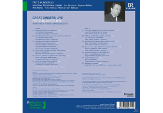 Fritz/münchner Rundfunkorchester/+ Wunderlich - GREAT SINGERS LIVE: FRITZ WUNDERLICH  - (Vinyl)