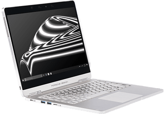 PORSCHE DESIGN BOOK ONE, Convertible mit 13,3 Zoll Display, Core™ i7 Prozessor, 16 GB RAM, 512 GB SSD, Intel® HD-Grafik 620, Pure Silver