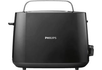 PHILIPS HD 2581/90 Daily Collection Toaster Schwarz (830 Watt, Schlitze: 2)