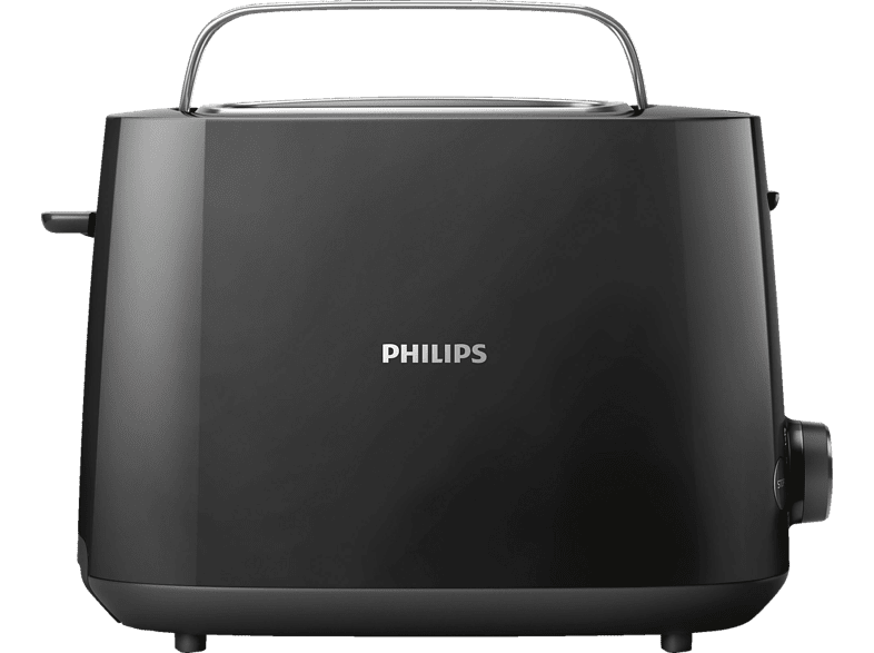 PHILIPS HD 2581 90 Daily Collection Toaster Schwarz 830 Watt, Schlitze 2