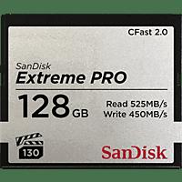 SANDISK Extreme PRO®, CFast 2.0 Speicherkarte, 128 GB, 525 MB/s