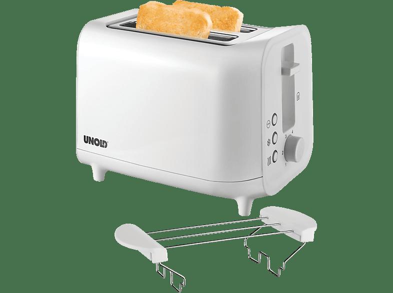 UNOLD 38411 Easy White Toaster Weiß (800 Watt, Schlitze: 2)