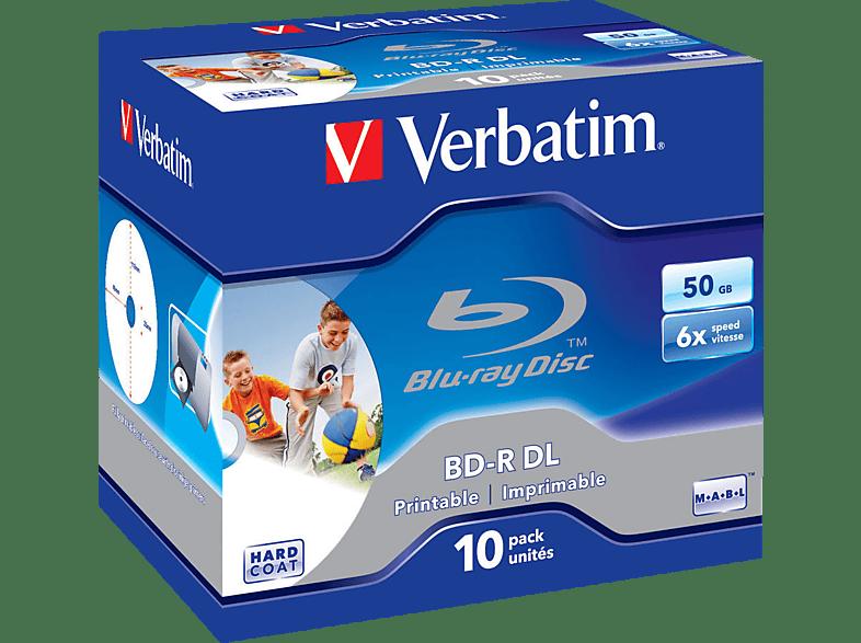 VERBATIM 43736 Printable Bedruckbar BD-R 2X50GB 6X Rohling