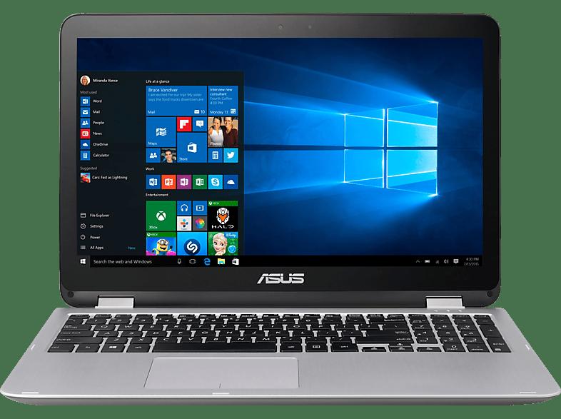 ASUS TP501UQ-FZ119T, Convertible mit 15.6 Zoll Display, Core™ i5 Prozessor, 8 GB RAM, 256 GB SSD, GeForce 940MX, Dark Grey-Metal