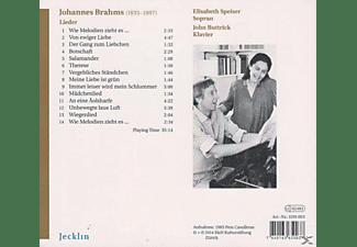 Elisabeth Speiser, John Buttrick - Lieder  - (CD)