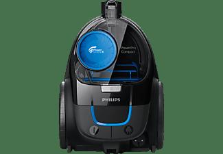 PHILIPS FC 9331/09 PowerPro Compact Beutellos Staubsauger, maximale Leistung: 900 Watt, Hochglanzschwarz)