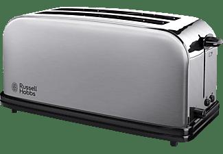 RUSSELL HOBBS 23610-56 Oxford Toaster Edelstahl/Schwarz (1600 Watt, Schlitze: 2)