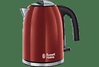 RUSSELL HOBBS 20412-70 Flame Red Wasserkocher, Rot/Edelstahl/Schwarz