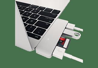 SATECHI TYPE-C USBHUB, USB Typ-C Hub, Silber