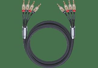 OEHLBACH XXL Fusion Four.4B 450 Bi-Amping-Lautsprecherkabel, Schwarz