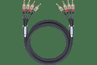 OEHLBACH XXL Fusion Four.4B 350 Bi-Amping-Lautsprecherkabel, Schwarz