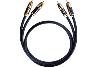 OEHLBACH XXL® Black Connection 2 x1.5 m Master Set Cinchkabel, Schwarz