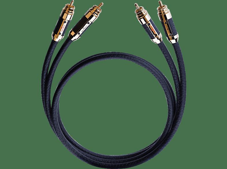 OEHLBACH XXL® Black Connection 2x 0.75 m Master Set Cinchkabel, Schwarz
