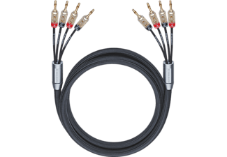 OEHLBACH XXL Fusion Four.4B 500 Bi-Amping-Lautsprecherkabel, Schwarz