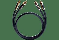 OEHLBACH XXL® Black Connection 2x1,75m Master Set Cinchkabel, Schwarz