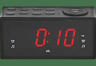 OK. OCR 310 Radio-Wecker, FM, FM, Schwarz