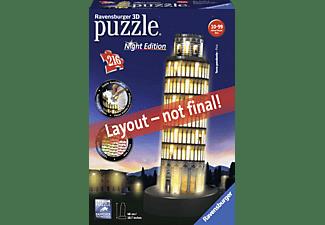 RAVENSBURGER Schiefer Turm von Pisa bei Nacht 3D Puzzle Mehrfarbig