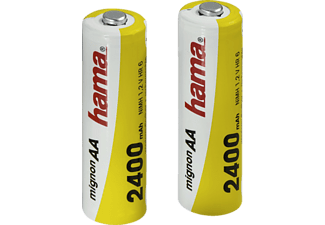 HAMA Ready4Power - Batteries NiMH (Blanc/Jaune)