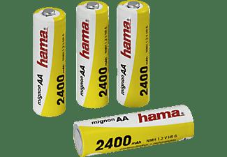 HAMA Ready4Power AA Mignon NiMH Akkus, NiMH, 1.2 Volt, 2400 mAh 4 Stück