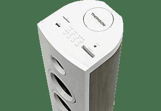 THOMSON DS301 Kompaktanlage (Weiß + Holz-Finish)