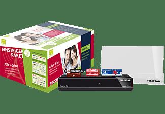 TELESTAR Digihd TT5 + 9 LTE DVB-T2 HD Receiver (HDTV, DVB-T2 HD, Receiver schwarz, Antenne weiß)