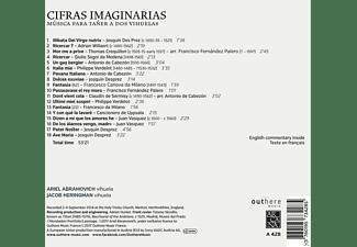 Jacob Heringman, Abramovich Ariel - Cifras Imaginaria-Musica para Taner a dos Vihuel  - (CD)