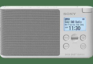 SONY XDR-S41D Radio, PLL-Synthesizer, FM, DAB, DAB+, Weiß