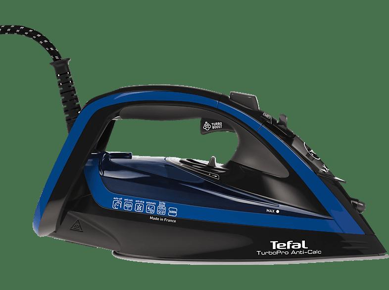 Tefal TEFAL FV5648 TurboPro Anti-Calc Dampfbügeleisen 2600 Watt, Durilium AirGlide Autoclean