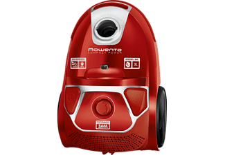 ROWENTA RO3953EA Compact Power Bodenstaubsauger mit Beutel Staubsauger, maximale Leistung: 750 Watt, Rot/Silber)