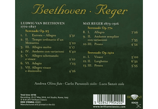 Oliva/Parazzoli/Sanzo - Serenades For Flute,Violin And Viola  - (CD)