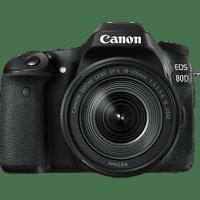CANON EOS 80D Kit Spiegelreflexkamera, 24.2 Megapixel, 18-135 mm Objektiv (IS, EF-S, USM), Touchscreen Display, WLAN, Schwarz