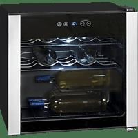 EXQUISIT WS 116-3 EA Weinklimaschrank (135 kWh/Jahr, EEK A, Schwarz)