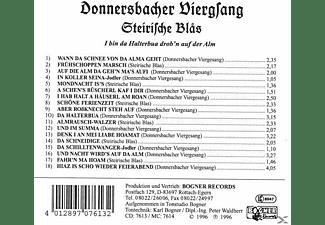 Donnersbacher Viergsang/Steirische Blas - I bin da Holtabua drob'n auf da Alm  - (CD)
